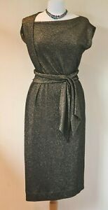 Vivienne Westwood Anglomania black and gold glitter Dress Size L UK 12 to 14