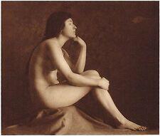 1920's Vintage German Female Nude Model Art Deco L. Herrlich Photo Gravure Print