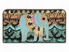 "NWT Sakroots Slim Wallet Sherbert One World Elephant New 6.5""x3.5"" SHP INT"