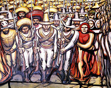 Siqueiros Alfaro David The People In Arms Canvas 16 x 20   #4879