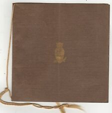 1910 BARNARD COLLEGE Booth Tarkington Program COLUMBIA UNIVERSITY New York City