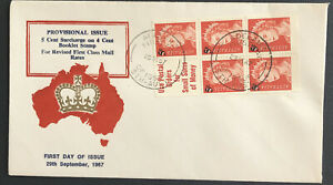 Australia * FDC Parade 1967 Prov. Issue 5c Surcharge On 4c Booklet Stamp