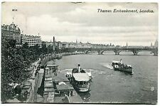CPA  LONDRE LONDON EMBANKMENT  BATEAU 1908