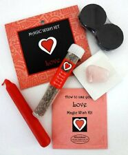 LOVE SPELL KIT MAGIC WISH KIT - Crystals, Candles, Charcoal Incense Booklet NEW
