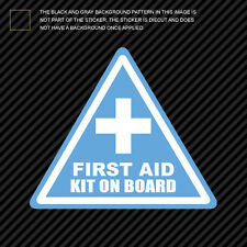 First Aid Kit On Board Sticker Die Cut Decal Vinyl off road race safety