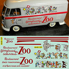 VW T1 Restaurant ZOO Copenhagen Hakon Mielche Printed in 14 diff. col 1:43 Decal