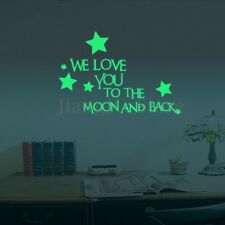 We Love You To The Moon And Back Stars Luminous Glow In The Dark Wall Stickers
