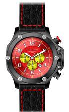 LUXURY CHRONOGRAPH Cavadini Watch Extravagan Ion Black Plated Collection 2015