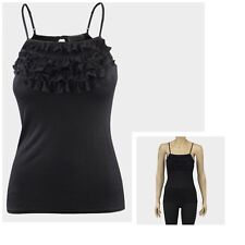 Ladies Ruffle Frilled Layered Womens Vest Crop Top