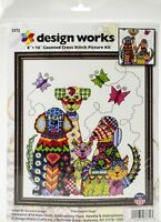 "Design Works Counted Cross Stitch Kit 8""X10""-Patchwork Dogs"