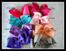"""8  Extra Large 2 1/4"""" Boutique Ribbon Bows Pick your favorite colors Texas Style"""