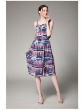 Best Seller Multi Color Rayon Cotton Full Print Dress #A873