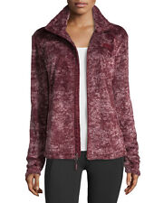 New Women's The North Face Ladies Osito 2 Fleece Jacket Novelty Red Marble 2XL