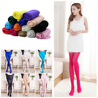 EP_ Candy Colors Opaque Footed Socks Tights Slim Pantyhose Women Stockings Splen