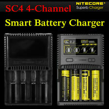 Nitecore Superb SC4 4-Channel Selectable Current Smart LCD 26650 Battery Charger