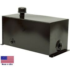 "HYDRAULIC OIL RESERVOIR - 5 Gallon - Steel - 1.5"" Suction - 3/4"" Return Port"