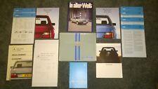 MERCEDES-BENZ W124 E Class 200 230E 260E 300E 200D 250D 300D RARE BROCHURES 1985