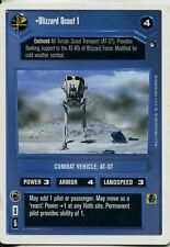 Star Wars CCG Hoth White Border Blizzard Scout 1