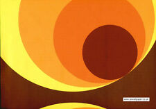 Big Circle Orange Brown and Yellow Wallpaper
