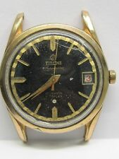 Vintage Gts Titoni Airmaster 21 Jewels Date Auto Yellow gold Filled S-Steel Case