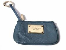 Cute Michael Kors Small Wallet Coin Purse Teal Gold Hardware ID