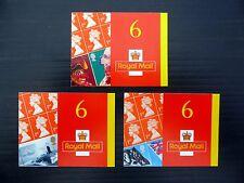 Gb 2001 Self-Adhesive Booklets (3) Cat £145 Pm2/4 Fp9345