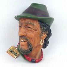 Bossons Chalkware Character Head titled the Tibetan Vintage Original Tag 1959 P