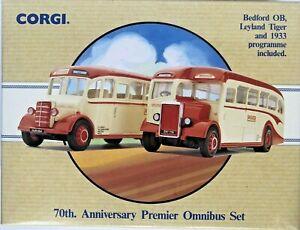 CORGI - 97079 - 70th ANNIVERSARY PREMIER OMNIBUS SET, Bedford & Leyland - MIB