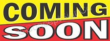 4'x10' COMING SOON BANNER Outdoor Sign XL New Store Grand Opening Now Open BIG