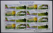 Korea Süd 2010 Flüsse Rivers IV Landschaften Landscapes 2769-72 Kleinbogen MNH