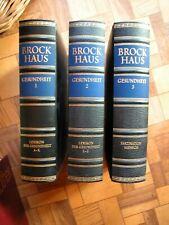 """Große BROCKHAUS Enzyklopädie Lexikon :  """"GESUNDHEIT """" - Edition in 3 Bände Leder"""