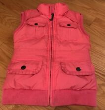 Juicy Couture Girls Kids Children Down Filled Vest. Jacket. Pink. Size 7.