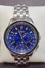 Citizen Eco-Drive Calendrier Blue Dial Stainless Steel Men's Watch (BU2021-51L)
