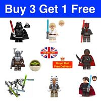 Custom Star Wars Mini Figures Bundle - Buy 3 get 1 Free - Minfigures Set UK