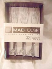 Michael Aram Flatware Acrylic Clear Twig 20 pc Forks Appetizer Serving Party