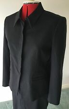 Country Road Women's Black Jacket & Skirt Suit Size 12 Made In Australia. #67