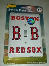 NEW Boston Red Sox Genuine MLB Electric Wall Switch Plate Cover SEALED Package