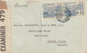 1941 Portugal WWII censored cover sent from Lisboa to London