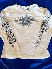 HARLEY DAVIDSON Indianapolis Wild Heart Harley Girl SIZE XL Scoop Neck Shirt