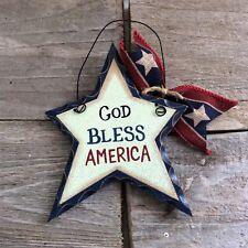 AGD Patriotic Decor - Americana God Bless America Ornament