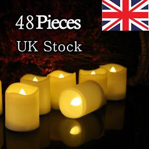 48PCS LED Tea Light Candles Battery Flameless Tealights Wedding Decoration