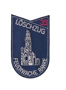 """Berliner Feuerwehr """"Löschzug 35 Feuerwache Ranke"""" Aufnäher"""