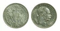 pcc1119_1)  1 Florin 1878 Franz Joseph  Vienna Austria
