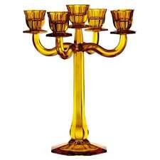 Nachtmann Chandelier Haut de Gamme 5 Bras Ravello, Ambre, Cristal, 30 cm, 71191