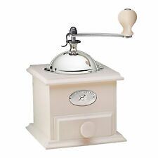 New LUXURY Real Wood Peugeot Cottage Coffee Mill, Ivory RRP £139.99