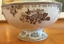 "Gustafsberg Asiatic Pheasants 10-1/4"" Centerpiece Beige Bowl 1850-1899"