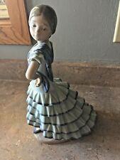 Lladro' Little Senorita #5054 Spanish Dancer Ruffled Dress Mint Retired