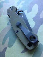 Spyderco Paramilitary 2 • BLACK Titanium Pocket Clip