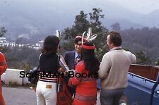KODACHROME 35mm Slide Asia Handsome Men Pretty Sexy Women Feathers Fashion 1974!