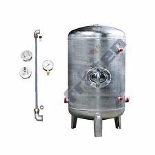 Druckbehälter 100-500 L 6 b senkrecht verzinkt mit Zubehör Druckkessel Neu